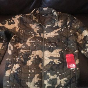 Camo northface jacket